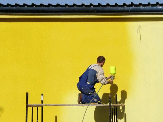 Wielkopowierzchniowe malowanie elewacji i ścian