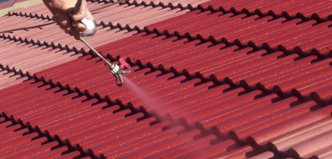 Malowanie dachu kawiarni Sanktuarium Matki Boskiej Chełmskiej w Chełmie