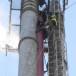 Malowanie komina stalowego elektrociepłowni